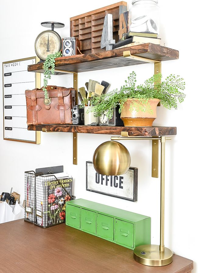A Thrifted High Contrast Vintage Office Makeover With Images