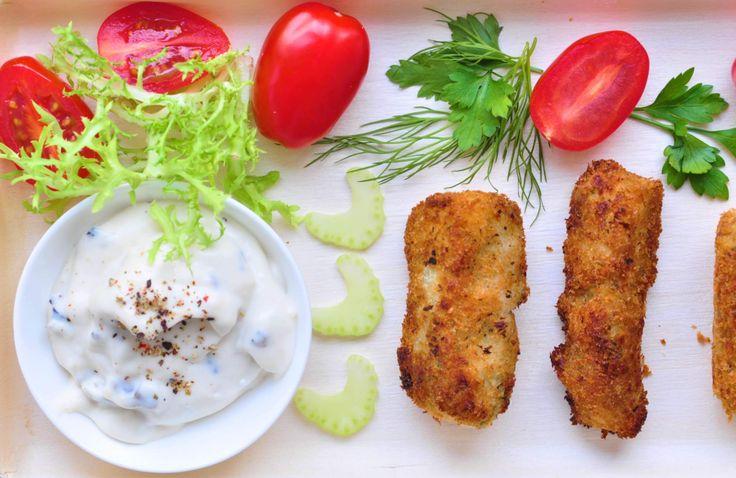 Gefrituurde aspergekroketten van witte asperges. Dit recept is vrij van gluten (als je glutenvrije panko gebruikt), lactose en eieren.