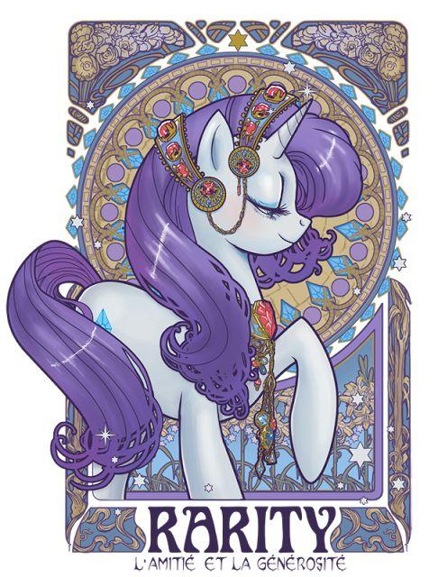 Stellar Four: My Little Ponies Art Nouveau