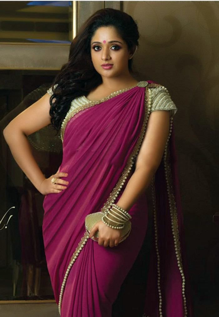Pin By Nischal Ever On Indian Fashion Pinterest Indian Beauty Saree Kavya Madhavan Saree And Plain Saree