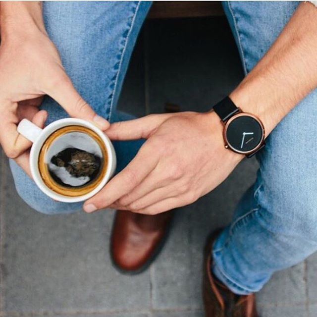 Coffee o'clock ☕️ featuring the unisex Copper watch #mensstyle