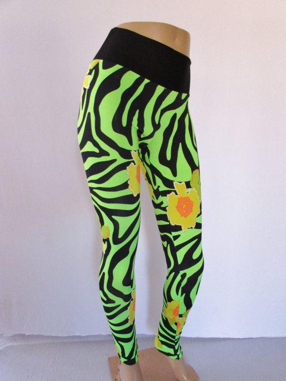 Stretch Lycra Spandex Leggings festival dance lounge  pants Workout  Yoga bursts Print