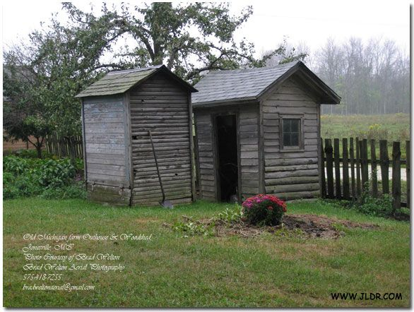 1800s farmhouse outhouse and wood shed in jonesville michigan photo courtesy of brad welton - Garden Sheds Michigan