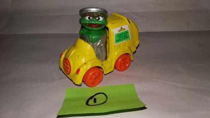 "Sesame Street Muppets Inc Playschool Diecast OSCAR ""GROUCH TRASH DELIVERY"" 1982  #Playskool"