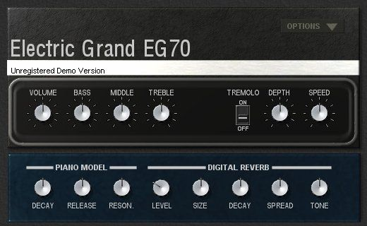 EG70 Electric Piano by Genuine Software and Instruments. Imitation of the Yamaha CP-70. 50 Euros.