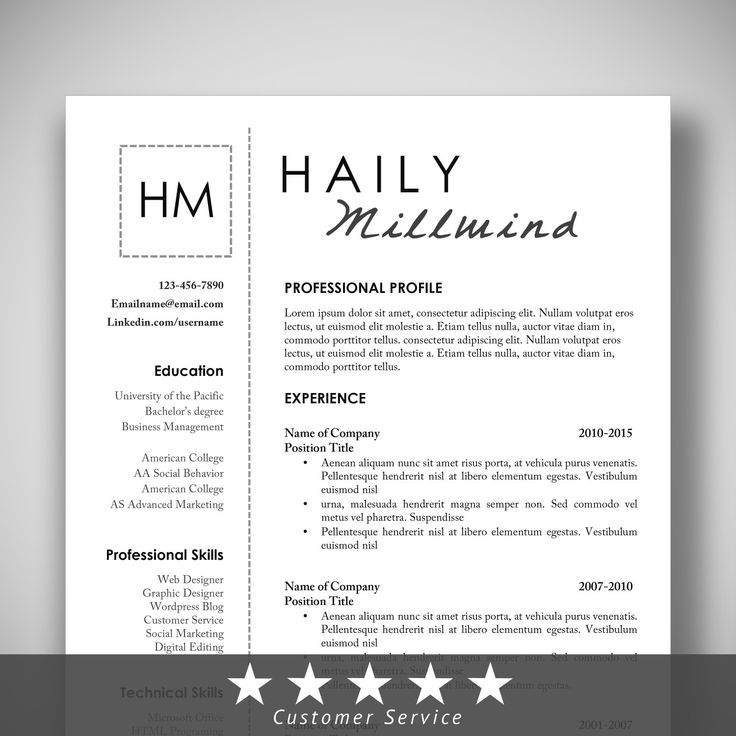 47 best RESUME images on Pinterest Resume templates, Resume - resume template linkedin