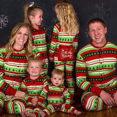 Special Delivery Christmas Pajamas, KIDS and ADULTS Christmas Pajama Blanks, Personalized FREE! by SpecialOneBoutique on Etsy