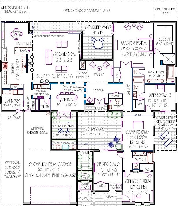 17 best ideas about modern house plans on pinterest Modern house floor plans