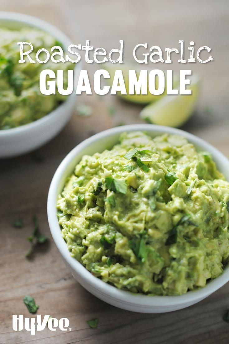 Roasted Garlic Guacamole | Recipe | Guacamole, Wells and Roasted ...