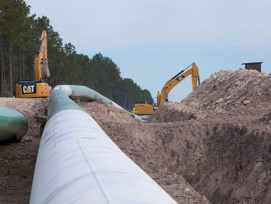 A TransCanada pipeline under construction.  The Keystone XL pipeline that both the Senate and House have voted in the past two weeks to approve just ran into another possible hang-up. Joe ...