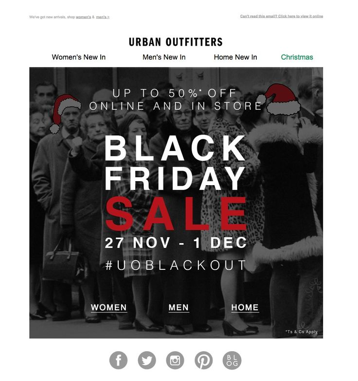 #newsletter #blackfriday UO 11.2014 Up to 50% off. THE BLACKOUT BEGINS.
