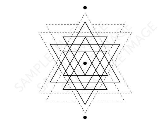 When Did Geometry Tattoos Start: Medium Size Temporary Fake Tattoo Geometric Start Lines
