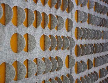 Cut+Fold felt acoustic panels by Selina Rose