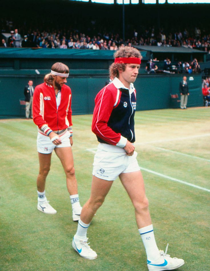 Bjorn Borg and John McEnroe, dressed for the Wimbledon finals in 1981.