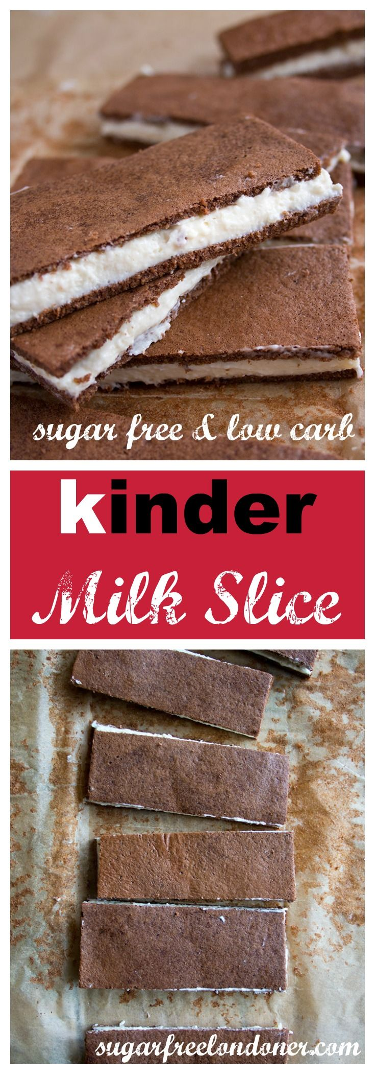 A healthy makeover for a European cult snack: Say hello to the sugar free kinder milk slice. Makes a delicious low carb keto dessert. Not just for kids!