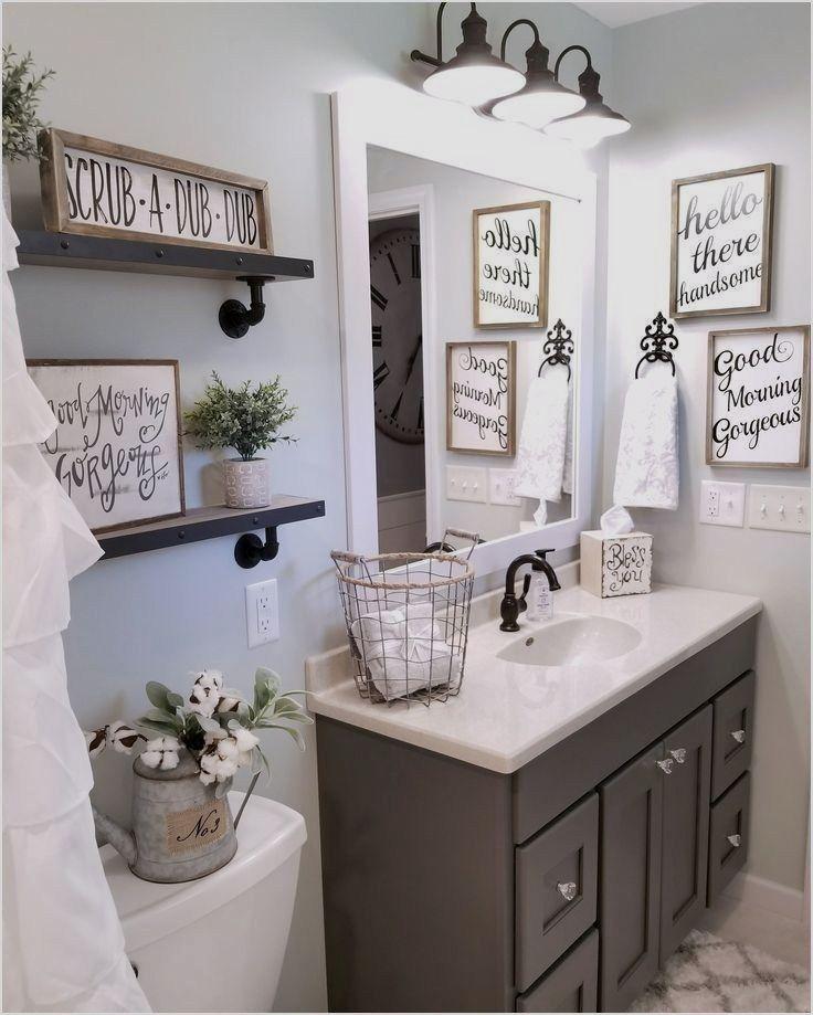 43 Perfect Farmhouse Half Bath Ideas 44 Farmhouse Bathroom By