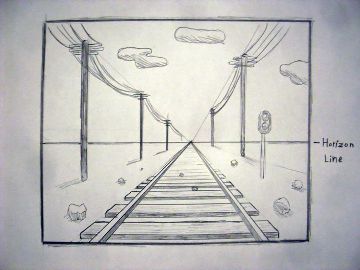 easy one point perspective drawing  Google Search