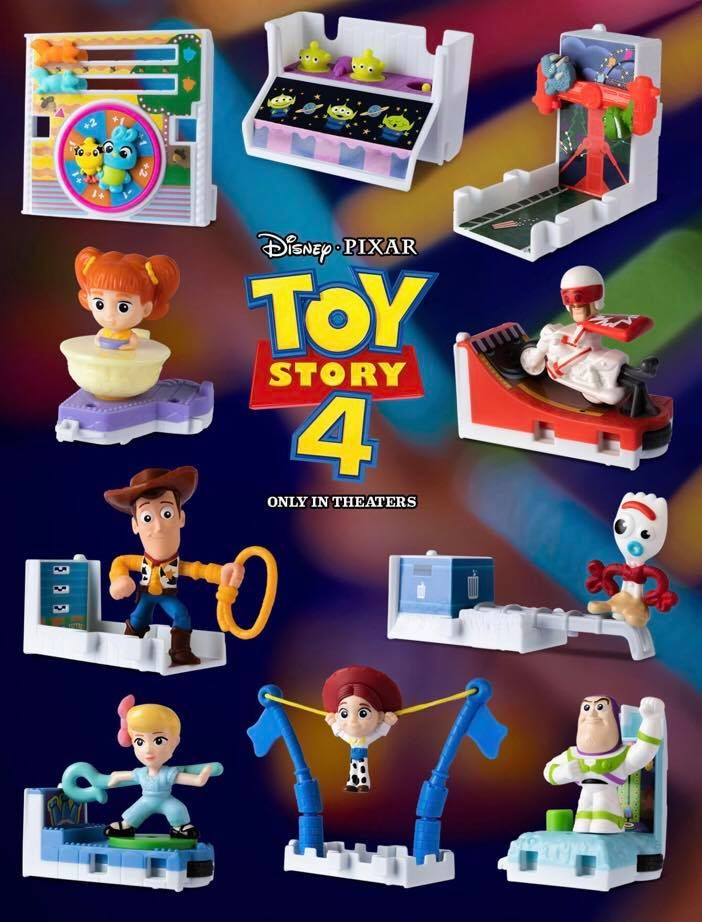 Toy Story Happy Meal Toys And Ticket To Win Game At Mcdonald S Happy Meal Toys Disney Gift Card Mcdonalds Toys