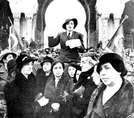 Turkish women were given their political rights in 1934,long before many countries in Europe and in the Middle East.