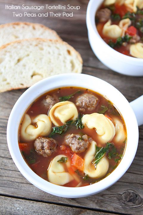 Italian Sausage Tortellini Soup from @Maria (Two Peas and Their Pod)