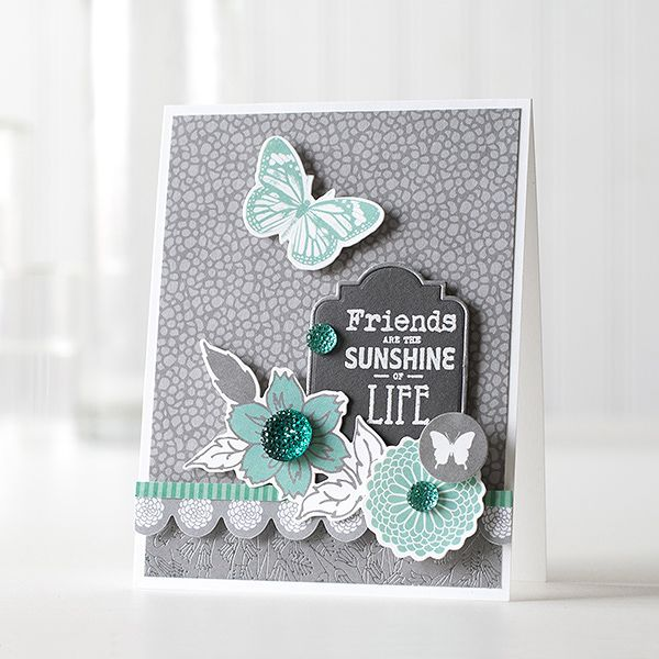 Such a Beautiful card by Shari Carroll using KaiserCraft for the Simon Says Stamp Blog. July 2014