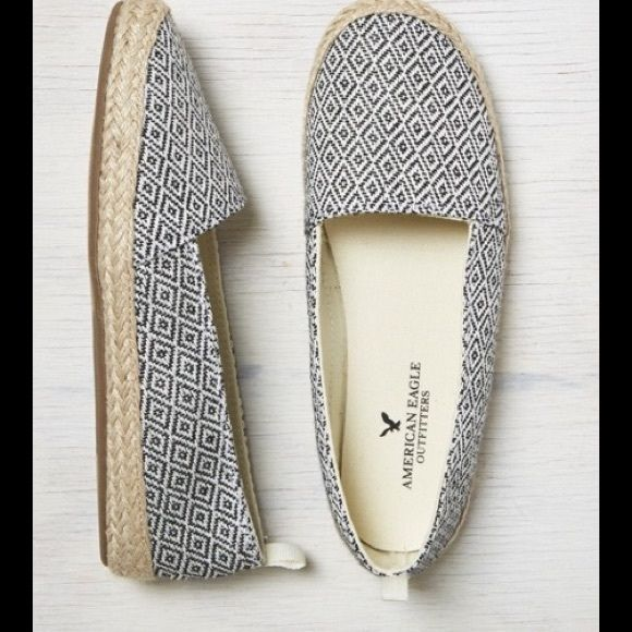American eagle shoes Black and white diamond pattern. Never worn. Bought online but size was too big. NWOT American Eagle Outfitters Shoes