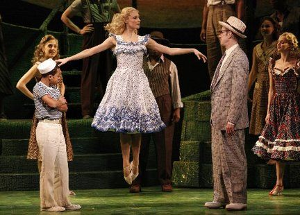 Alina Faye as Susan the Silent. Broadway Revival of Finian's Rainbow. St. James Theatre.