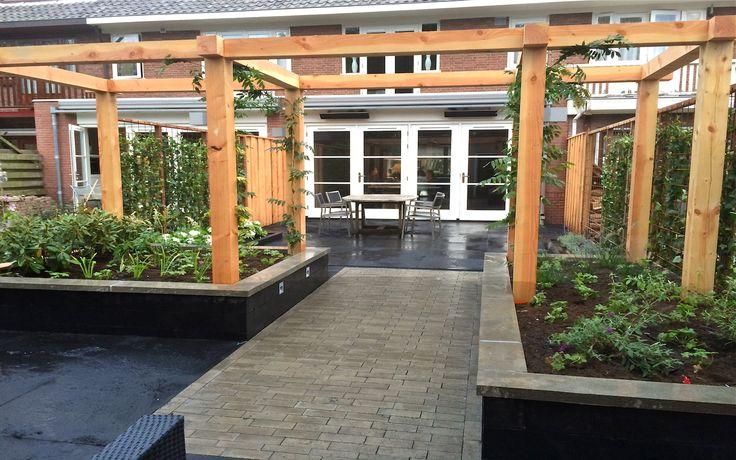 21 best douglas hout in de tuin images on pinterest pergolas garden ideas and outdoor gardens - Hout pergola dekking ...