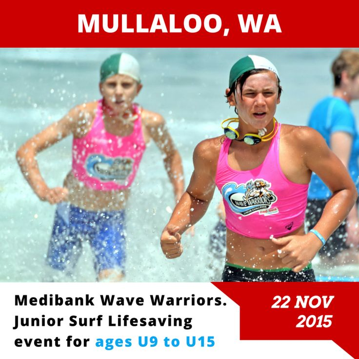 Mullaloo, WA, we'll be seeing you on Sunday 22nd November!  Head on over to our website for all the details: http://bit.ly/mullaloo2015  All Medibank members will receive a 15% discount on checkout.  #medibankwavewarriors #medibank #wavewarriors #mullaloo #juniorslsc #GenBetter