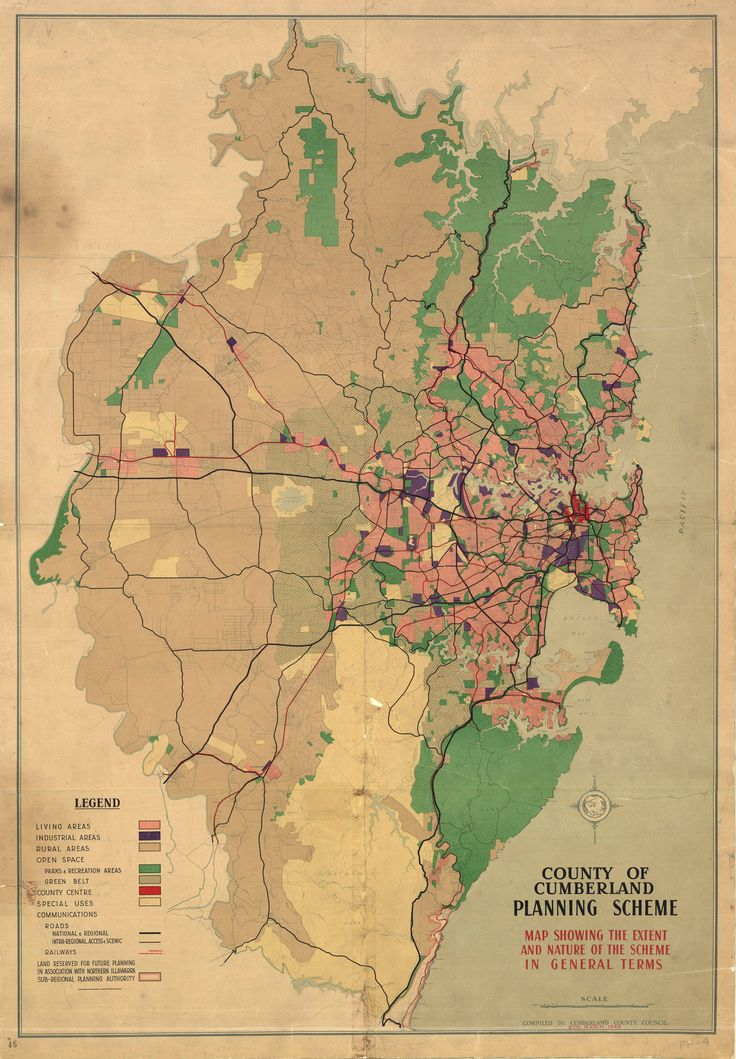 County of Cumberland Planning Scheme map 1948