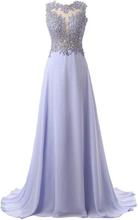 b67c22be5c2ce6 Callmelady Abendkleider Lang Spitze Elegant Ballkleider Damen Abiballkleid  Cocktailkleid (Lavendel, EU38)