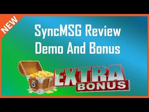 SyncMSG Review | Bonus Plus SyncMSG Demo - YouTube