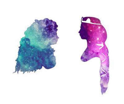 Disney Princess silhouette galaxy