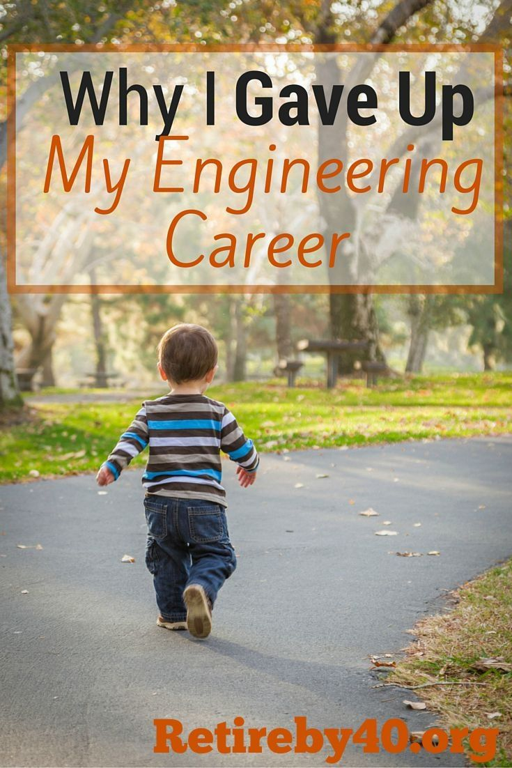 Engineering is a great career choice, but most engineers need to move on at a certain point in their career. See why I gave up my engineering career and the comfortable paychecks.