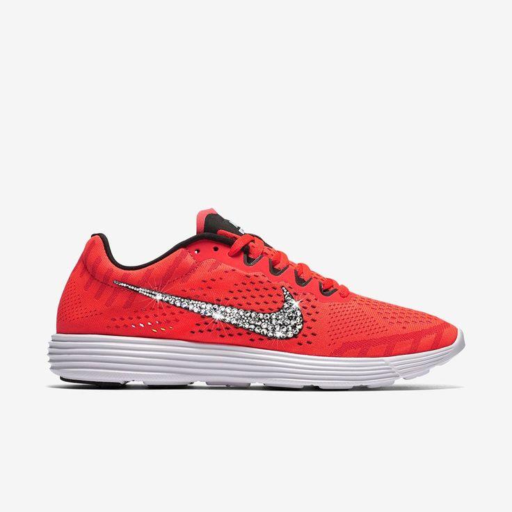 Sneaker * Nike * Glitzer * Swarovski * rot * Luna * Glitzerkick