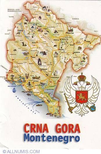 Map of Montenegro, Various tourist card - Montenegro