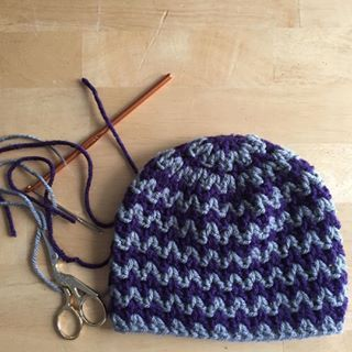 Another quick #crochet #chevron hat for #clickforbabies! I recorded the process…