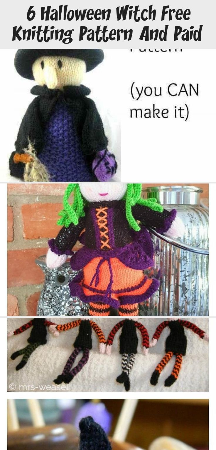 Little Witch Charm Set Knitting Pattern #knittingpattern # ...