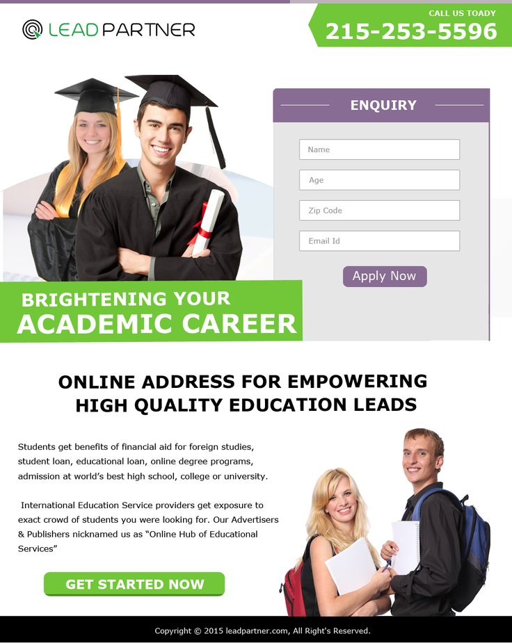 Education Landing Page 3