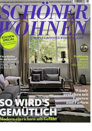 The cover of the edition of Schøner Wohnen that featured Where I'd Stay's St Sulpice flat