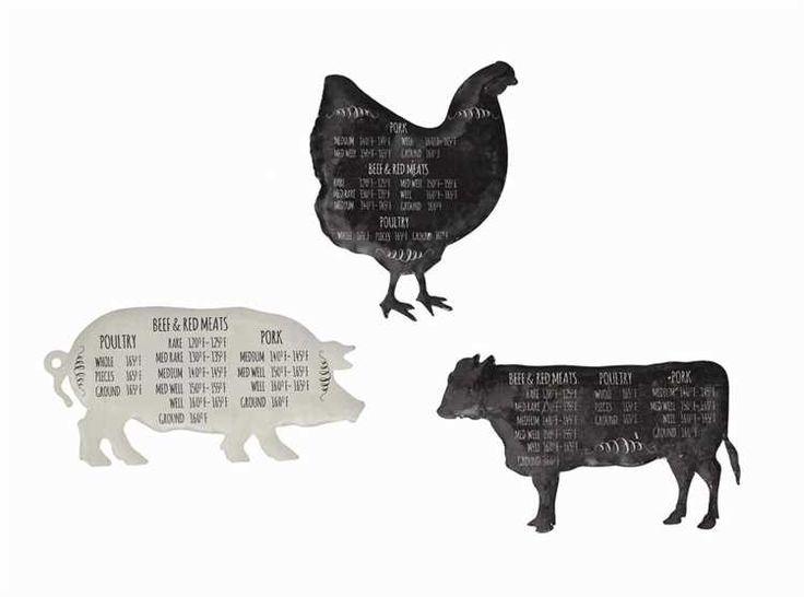 Tin Farm Animal Magnets