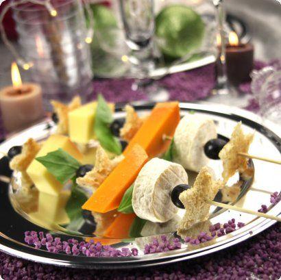 Les decorations de la rédac :: Brochettes de fromages smart