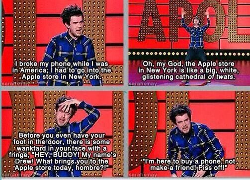 jack whitehall. Whenever he says wanktard my life is just made.