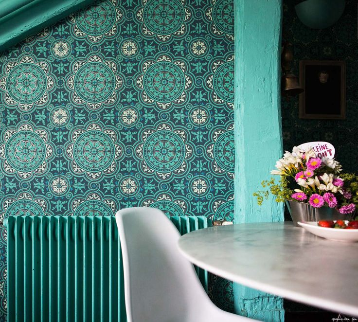 Apartment Wallpaper: Teal! Images On Pinterest