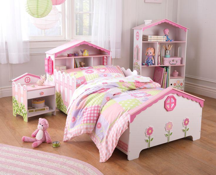 kid kraft dollhouse toddler bed