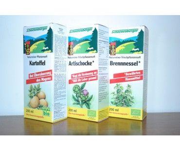Pachet detox si slabire bio de la Schoenenberger. Supliment alimentar pentru o cura de detoxiefiere. CU extractie pure din urzica, anghinare si cartof. #detox