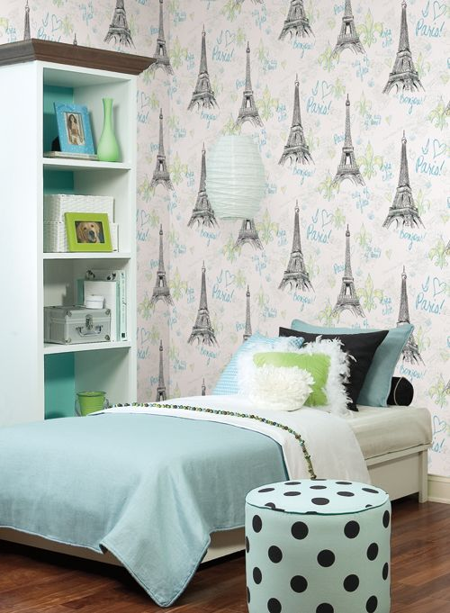 eiffel tower wallpaper from york wallcoverings - Eiffel Tower Decor For Bedroom