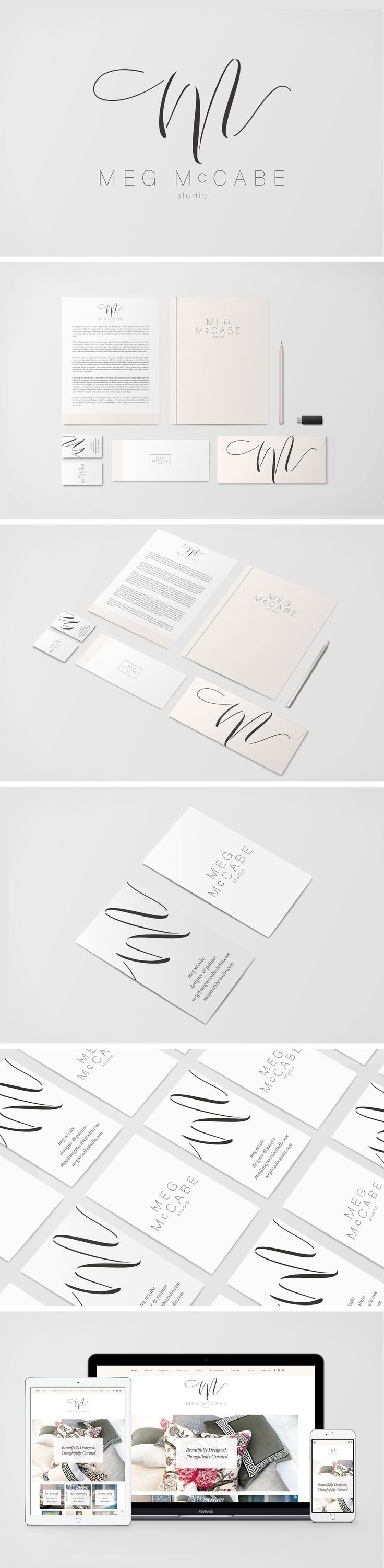 Brand Identity and Logo Design for Meg McCabe Studio