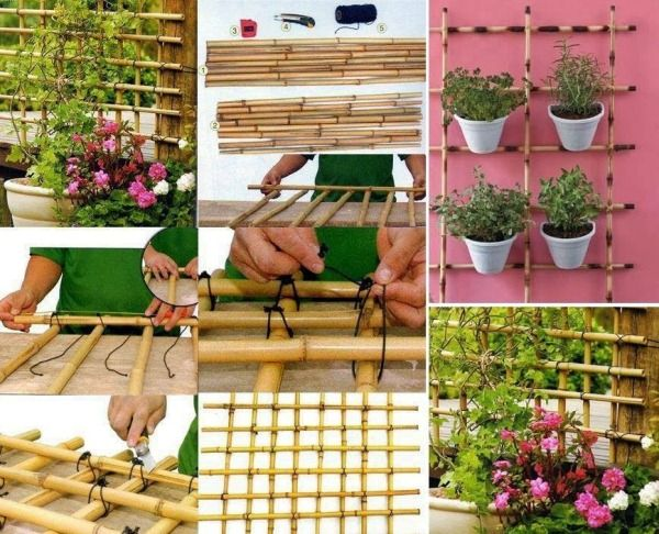 How To Make A Trellis Out Of Bamboo