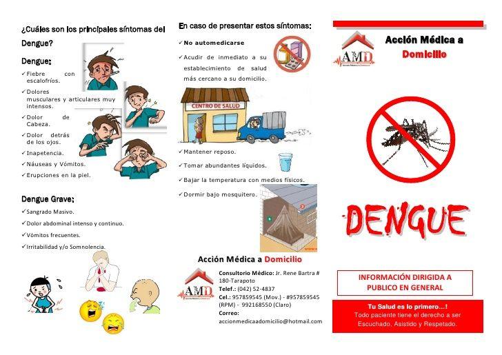 Resultado de imagen para triptico dengue y chikungunya